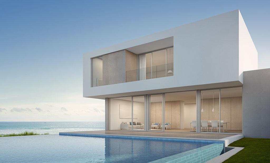 Esempio di come può essere una villa moderna in balle di paglia