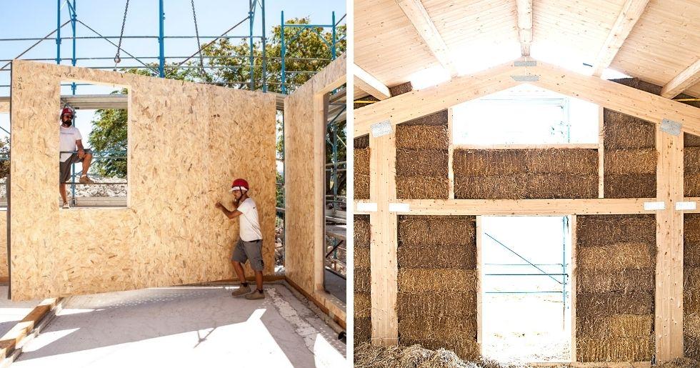differenze tra casa in legno. casa in paglia